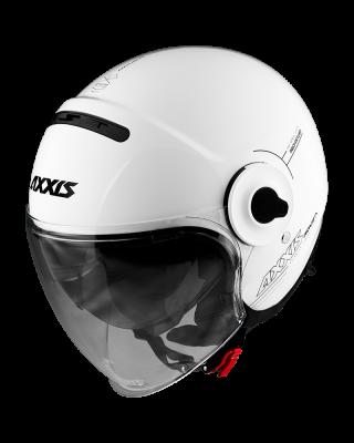 AXXIS jet čelada Raven SV bela svetleča