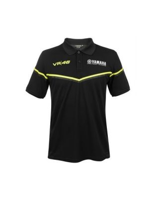 VR46 Black Line -Yamaha Men Polo S
