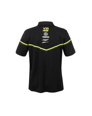 VR46 Black Line -Yamaha Men Polo M